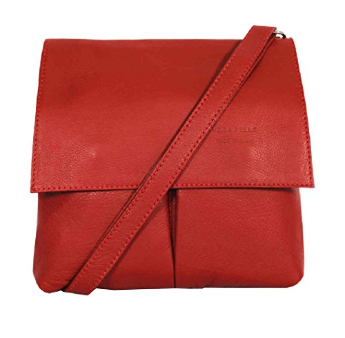 Retail Shoulder Medium Italian Leather Pelle Amethyst Handbag Red Crossbody Bag Vera xaqzYawnI