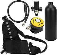 Diving Oxygen Tank Set,1L Diving Oxygen Tank Set Portable Underwater Breathing Kit Diving Tank Equipment