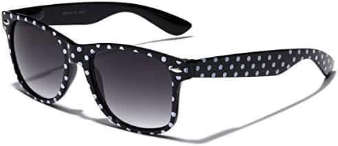 Polka Dot Retro Fashion Sunglasses - 100% UV400