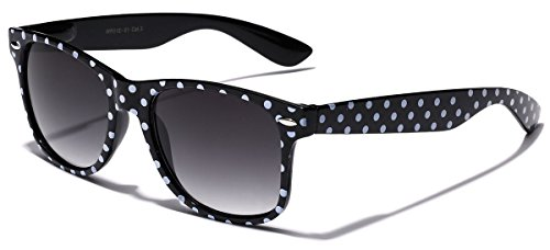 Polka Dot Retro Fashion Wayfarer Sunglasses - 100% UV400 - - Store Best Online Sunglasses