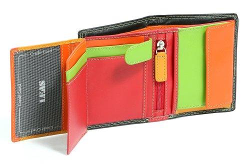 """Piccolo Portafoglio per Uomo e Donna formato verticale LEAS, Vera Pelle, multicolore - """"LEAS Multicolore-Serie"""""""