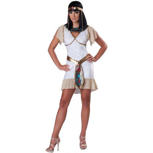 InCharacter Costumes, LLC Egyptian Jewel Teen , White/Gold, Medium (Sexy Halloween Costumes For Teens)