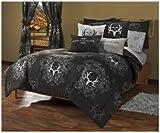 Bone Collector Comforter/Sham Set, Full, Black/Grey