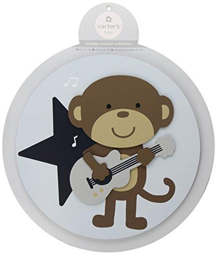Carter's 3D Wall Art, Monkey Rockstar (Discontinued by Manufacturer)