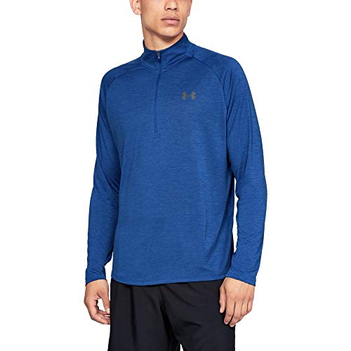 Under Armour mens Tech 2.0 1/2 Zip-Up, Royal (400)/Graphite, Large