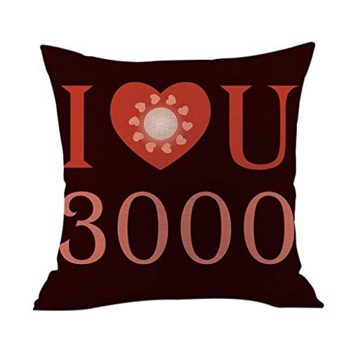Elevin(TM)  I Love You Three Thousand Times Text Hug Pillowcase Home Decoration (B)