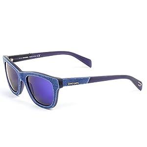 Diesel Mens Denim Sunglasses DL0111 52 92Y Purple / ONE SIZE