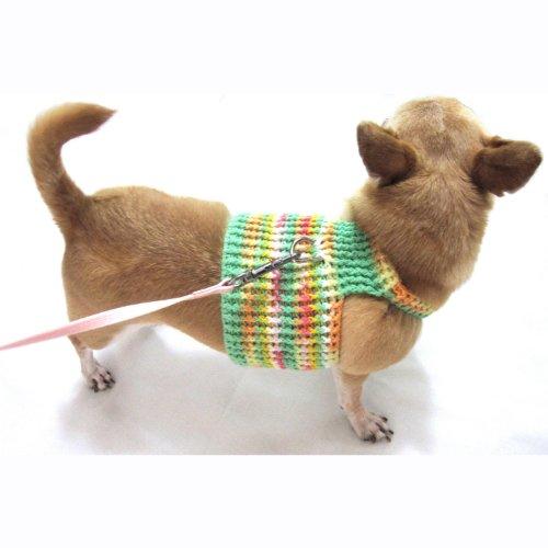 Pet Halter Harnesses Handmade Cotton Crocheted Dog Collar 6H - Crocheted Xxs