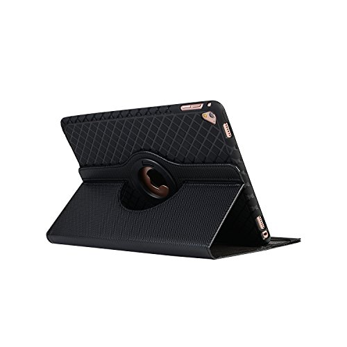 BoriYuan iPad Mini 360 Degree Rotating Stand PU Leather Case Protective Flip Folio Detachable Soft Rubber Cover For Apple iPad Mini 1/ Mini 2/ Mini 3 with Card Slot+Screen Protector+Stylus (Black) Photo #2