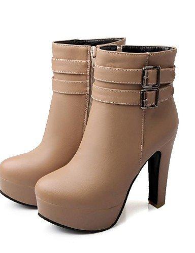 XZZ  Damenschuhe - Stiefel Stiefel Stiefel - Kleid - Kunstleder - Blockabsatz - Modische Stiefel - Schwarz   Weiß   Beige  6fe0db