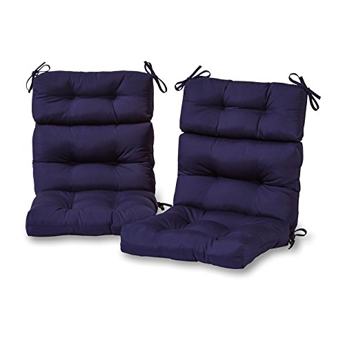 Greendale Home Fashions Outdoor High Back Chair Cushion (set of 2), Navy by Greendale Home Fashions