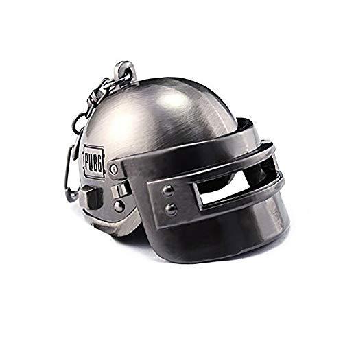 Focux PUBG Playerunknowns Battlegrounds Level 3 Helmet Keychain Helmet Accessories PUBG Keychain Charm Souvenir Gifts PUBG Logo (Large Helmet)