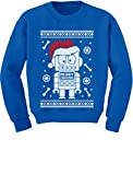 TeeStars - Cute Robot Santa Ugly Christmas Sweater - Funny Xmas Kids Sweatshirt 4T Blue