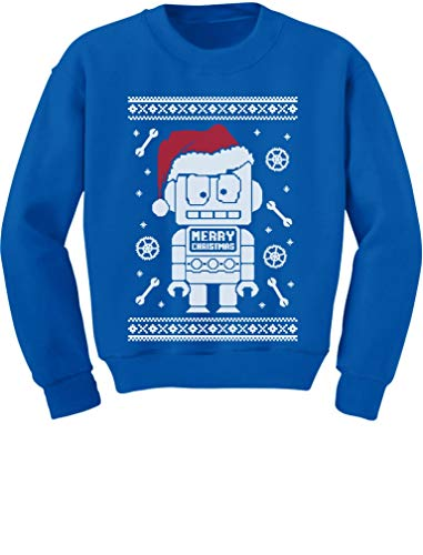 TeeStars - Cute Robot Santa Ugly Christmas Sweater - Funny Xmas Kids Sweatshirt