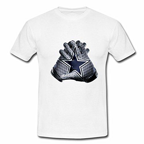 Custom Dallas Cowboys Team Logo Tees Shirt XLarge White