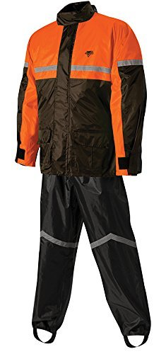 Nelson-Rigg SR-6000 Stormrider Two-Piece Rain Suit (XX-LARGE) (BLACK/ORANGE)