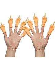 Yolococa Kleine Handen Middelvinger Kleine Vinger Puppets Mini Vinger Handen Miniatuur Handen met Linkerhanden en Rechterhanden 10 Stuks Tiktok Speelgoed