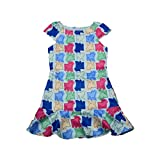 Tantisy ♣↭♣ Mom and Girl Dress�� Parent-Child Cartoon Print Pleated Dress Casual Summer Skirt Family Matching Clothes