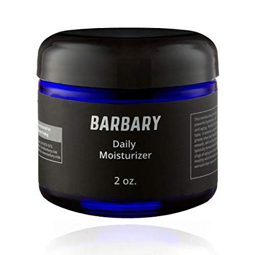 Men's Facial Moisturizer from Barbary 2oz - Natural & Organic Daily Face Lotion with Vitamin E, Antioxidants, and Hyaluronic Acid (Botanical)
