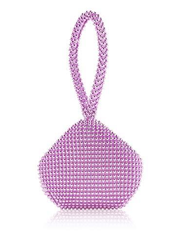 Radtengle Women's Evening Clutches Bag Beads Rhinestones Triangle Purse Handbag