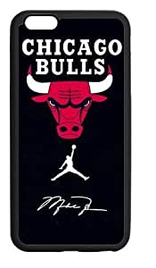 Hoomin Chicago Bulls Air Michael Jordan Logo Case For Iphone 5/5S Cover Cell Phone Cases Cover Popular Gifts(Laster Technology)