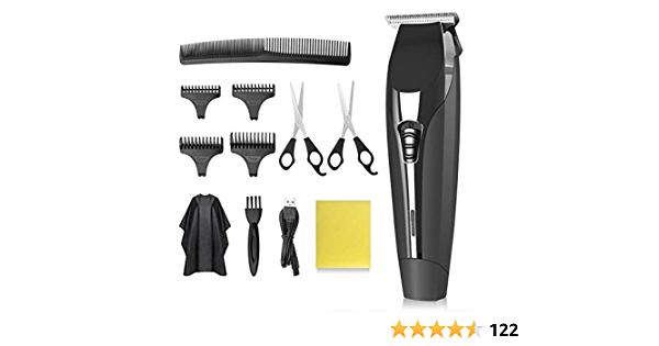 ZAMAT Professional Hair Clippers & Beard Trimmer for Men, Cordless Rechargeable Hair Trimmer Clipper for Barbers, Stylists, Beginners, Lightweight Electric Hair Cutting Kit with 11 Pieces Attachments
