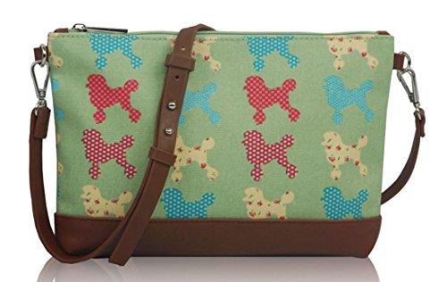 Mini Kukubird Bag Poodle Handbag With Pattern Green Crossbody Size Dust qEaURwCa