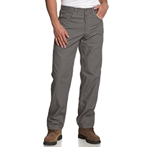 Carhartt Men's Loose Fit Five Pocket Canvas Cleaning Pant-Gray-front
