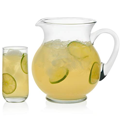 Glass Lemonade - Libbey Acapulco Glass Entertaining Set with 4 Glasses and Pitcher