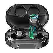 #LightningDeal Wireless Earphones Bluetooth Headphones 100H Play time Deep Bass Stereo Sound Wireless Headphones Built-in Mic IPX8 Waterproof Bluetooth 5.0 Earbuds with 3500mah Charging Case