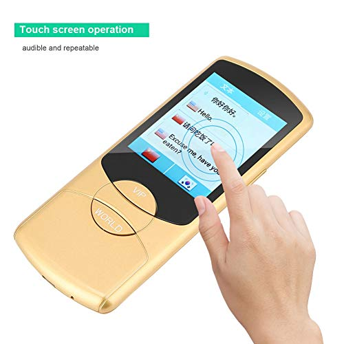 Intelligent Voice Translator, Portable Multi-Language Simultaneous Translator Device 42 Languages Two-Way Interpretation in Real Time Supports WIFI for Travel Learning Shopping, Business(Yellow) by ASHATA (Image #2)