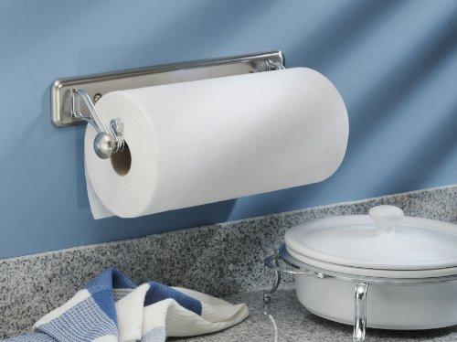 InterDesign York Lyra Wall Mounted Paper Towel Holder – Split Finish