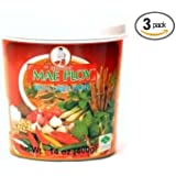 Mae Ploy Thai Red Curry Paste - 14 ounce per jar (Pack of 3)