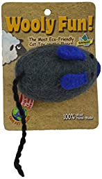 One Pet Planet Wooly Fun Big Mouse Toy,Assorted Colors
