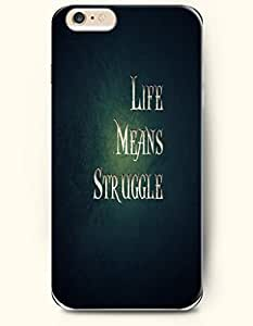 iPhone Case, SevenArc iPhone 6 (4.7) Hard Case **NEW** Case with the Design of life means struggle - Case for Apple...