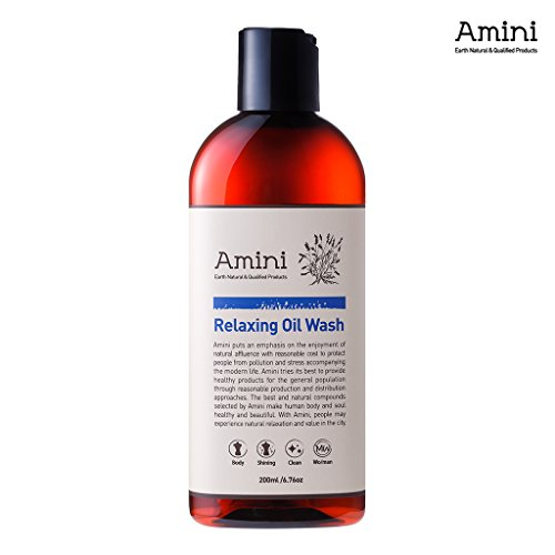 - [Amini] Relaxing Oil Wash 200ml - Thermal Spring Water & Botanical Oils - Body Oil to Bubble Foam