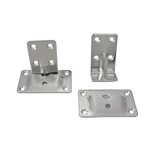 White Water Marine 7994S Removable Stainless Table Brackets (Set of 4 Pieces)