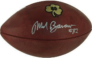 Mark Bavaro Signed Autograph Notre Dame Game Model Football - Authentic Autograph from Sports Collectibles Online