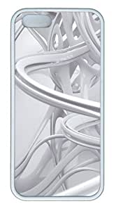 3D white linear TPU White good iphone 5 case for Apple iPhone 5/5S by Maris's Diary