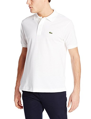 Lacoste Men's Short Sleeve Pique L.12.12 Classic Fit Polo Shirt, White, 7