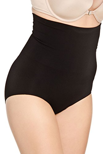 Hot Bottoms Women's Seamless High Waisted Bikini Shapewear L Black
