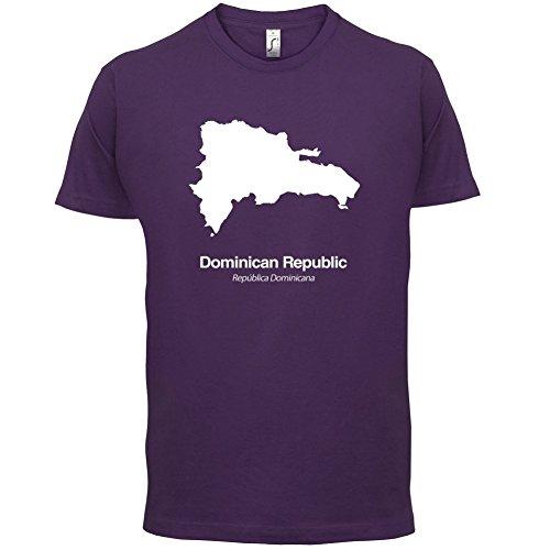 Dominican Republic / Dominikanischen Republik Silhouette - Herren T-Shirt - Lila - S