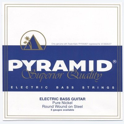 Pyramid Bass Pure Nickel Round Wound 4-String Medium 40-100