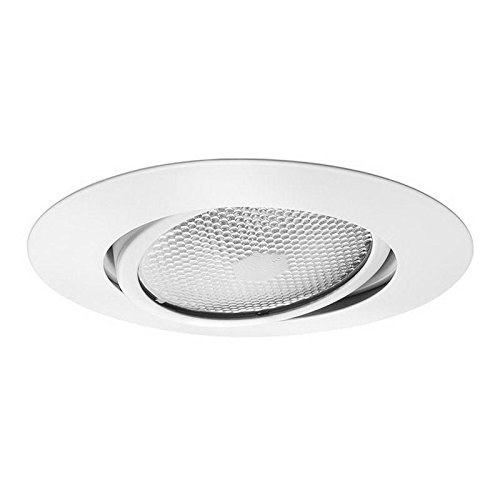 Juno Lighting Group 209N-WH Gimbal Ring with Flat Trim 5-Inch Adjustable Recessed Trim, White ()