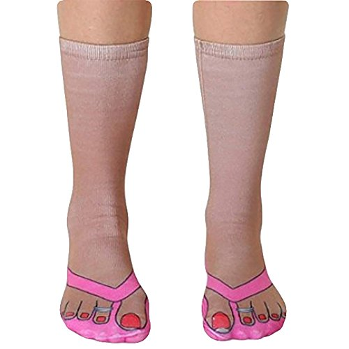 68502c3416a3e Ryshman 3D pattern socks women Print Socks Casual Personalized Flip Flop  Socks Low Cut Ankle Socks