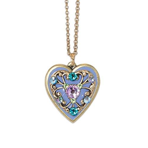 Anne Koplik Small Heart Swarovski Crystal Pendant Necklace 4672pas Anne Koplik Jewelry