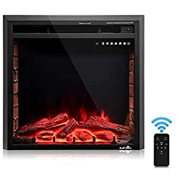 BestComfort Recessed Electric Fireplace,Multi-Operating Electric Fireplace Insert with Remote,750W-1500W Built in Electric Fireplace by BestComfort