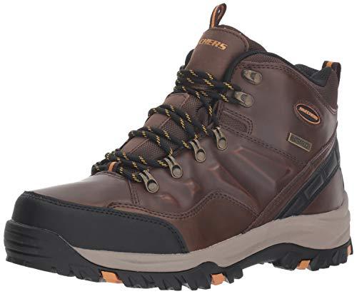 Skechers Men's RELMENT-TRAVEN Hiking Boot, dkbr, 8.5 Medium US