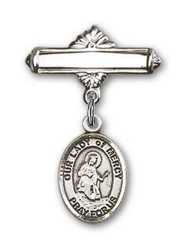 Icecarats Créatrice De Bijoux En Argent Sterling O / L De Charme Miséricorde Broche De Badge 1 X 5/8