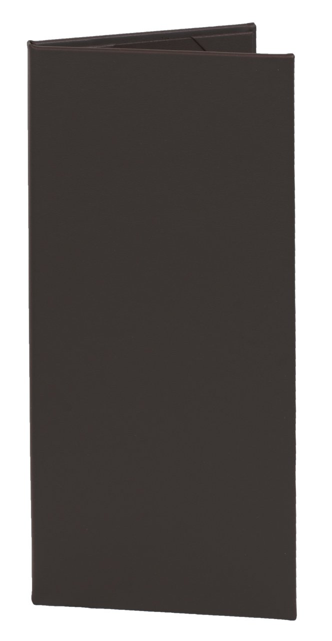 Menu Covers (10 Pack) Classic Faux Leather, 2-Panel (4.25'' x 11'', Chocolate Brown)
